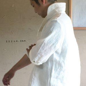 麻のシャツ-h